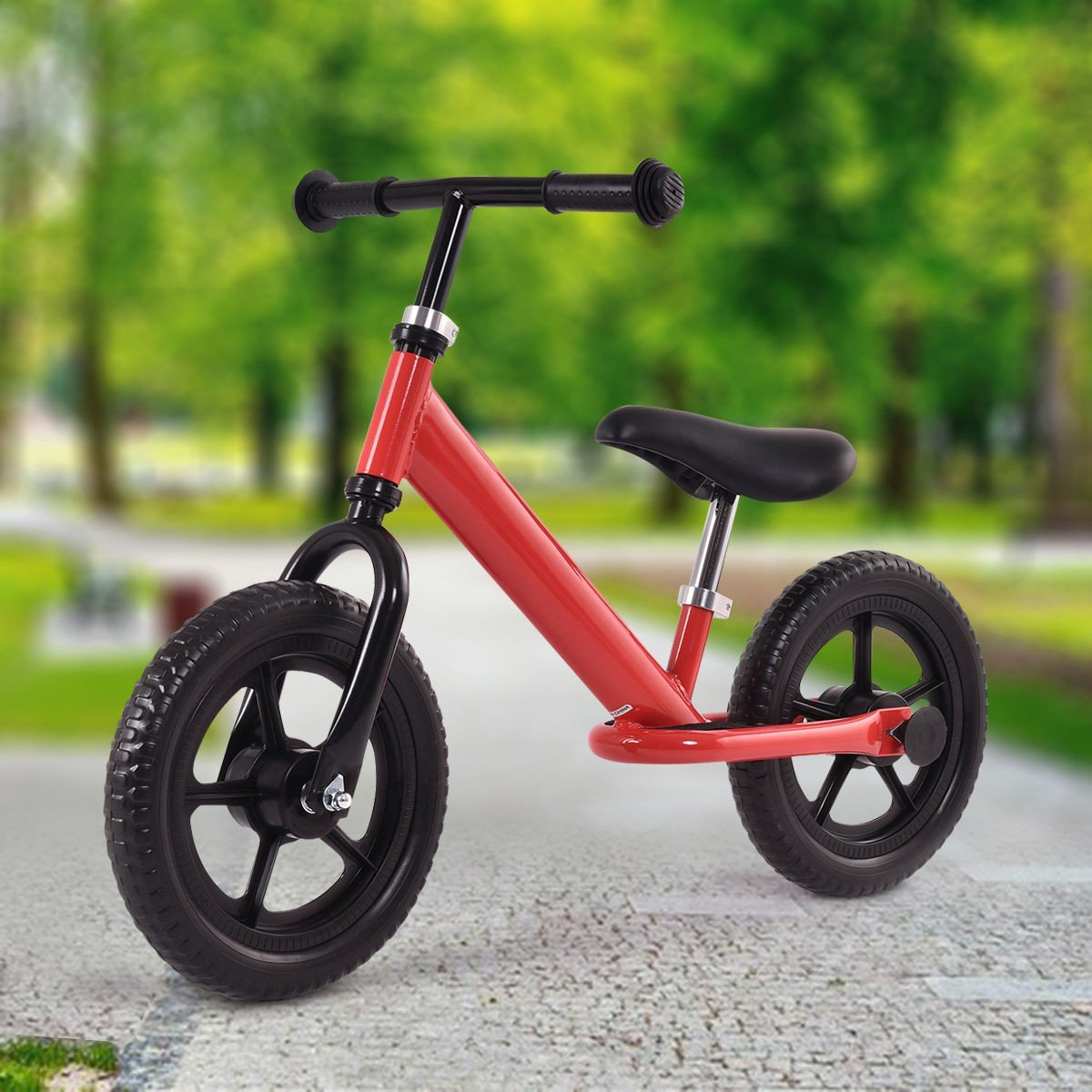 Admirable Amazon Com Md Group Kids Balance Bike No Pedal Red Steel 12 Alphanode Cool Chair Designs And Ideas Alphanodeonline