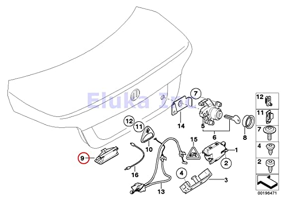Amazon Com Bmw Genuine Trunk Lid Closing System Trunk Lock Push