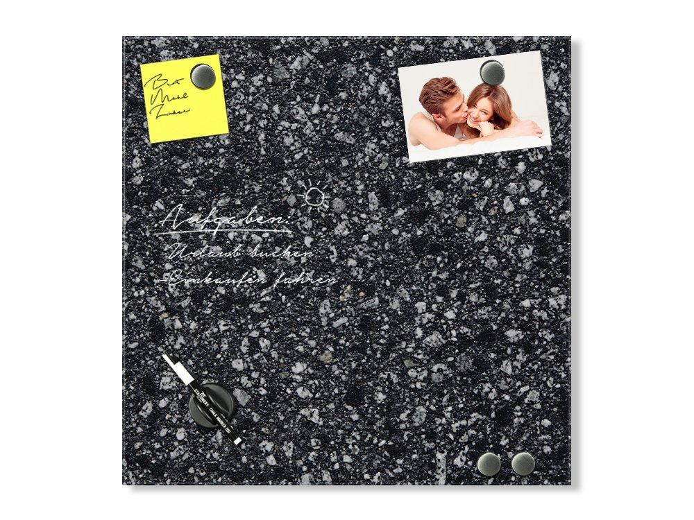 GRAZDesign Magnettafel Glas Grau - Memoboard Granit - Magnetwand Granitoptik - Glas Magnettafel Stein   100x100cm   501788_100x100_GL_MW