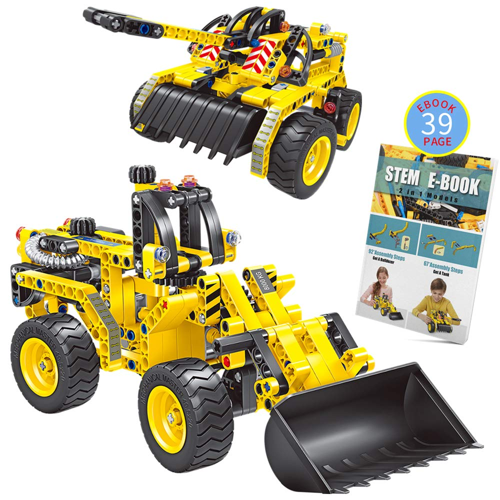 Gili Building Sets Kids Age 6-12, Construction Engineering Tank Toys 7, 8, 9, 10 Year Old Boys & Girls, Educational STEM Gifts Kids