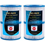 POOLPURE Bestway Spa Replacement Filter for Type VI, Coleman SaluSpa 90352E, 4 Pack