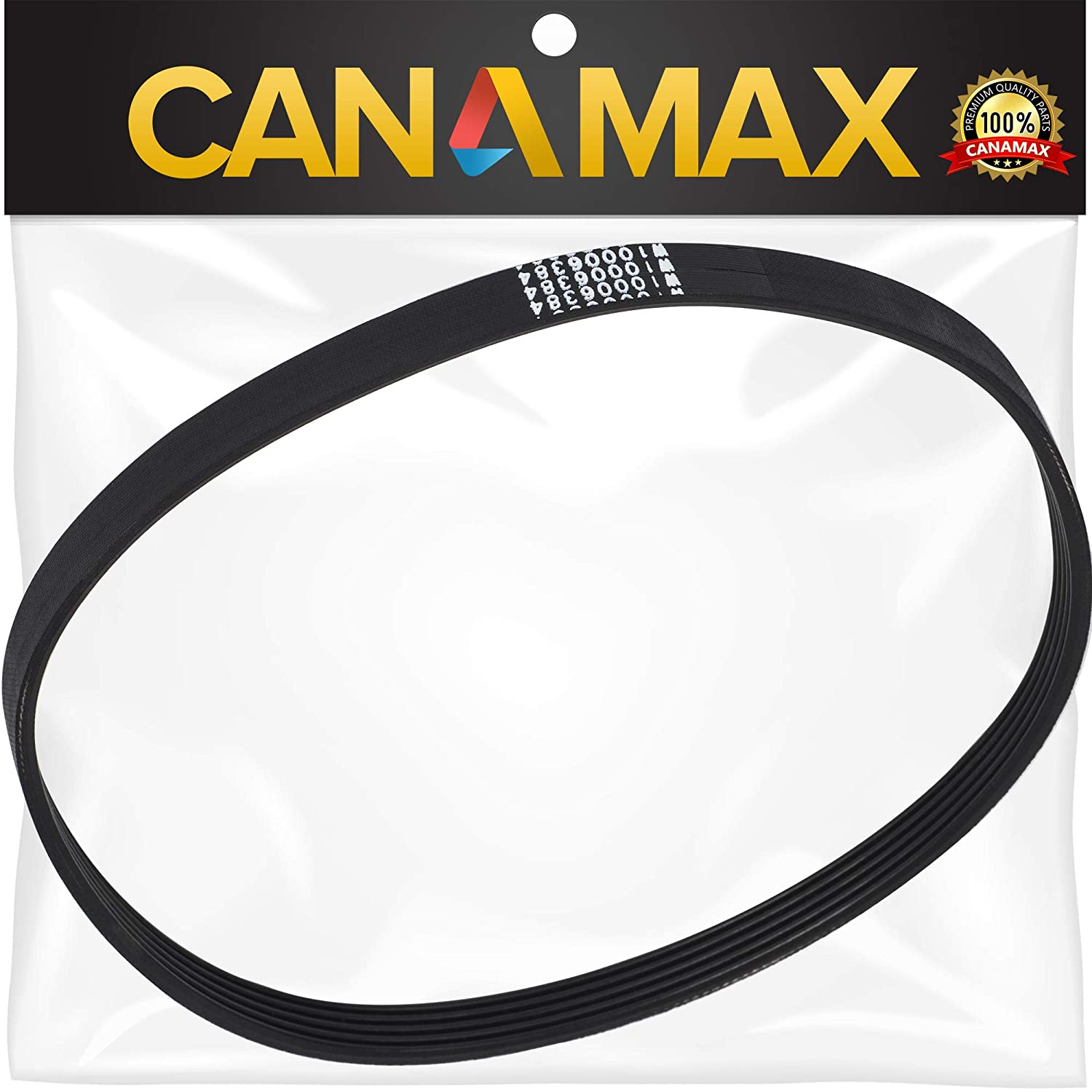 W10006384 Washer Drive Belt Premium Replacement Part by Canamax - Compatible with Whirlpool Kenmore Maytag Washers - Replaces W10006384 AP6014712 PS11747978 WPW10006384