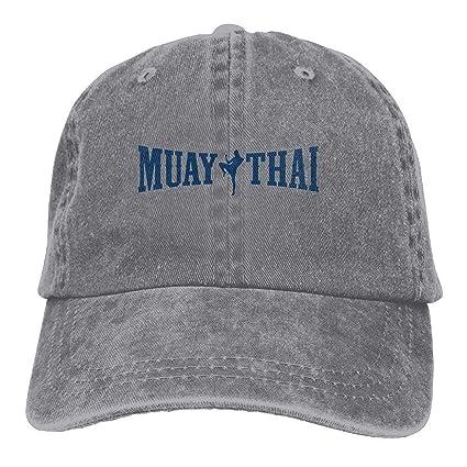 Jxrodekz Muay Thai Logo Kickboxing Deporte Clásico Algodón Papá Sombrero Gorra Lisa Ajustable Gorra de béisbol