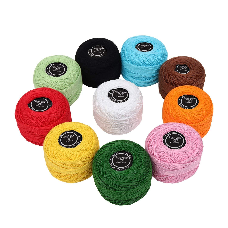 Amazoncom Crochet Thread 10 Pack Cotton Yarn Threads Balls 170