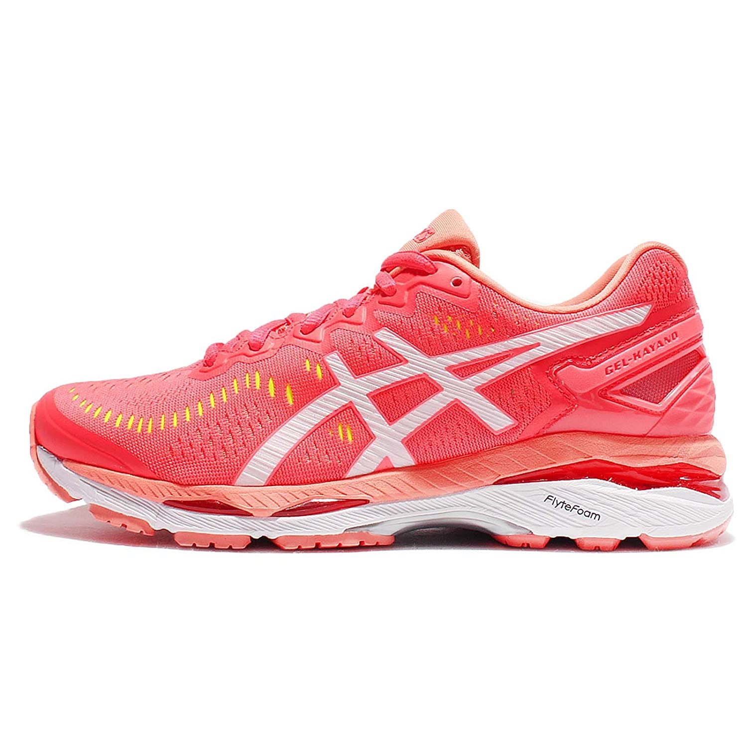 ASICS Women's Gel Kayano 23 (D) Diva Pink, White and Coral