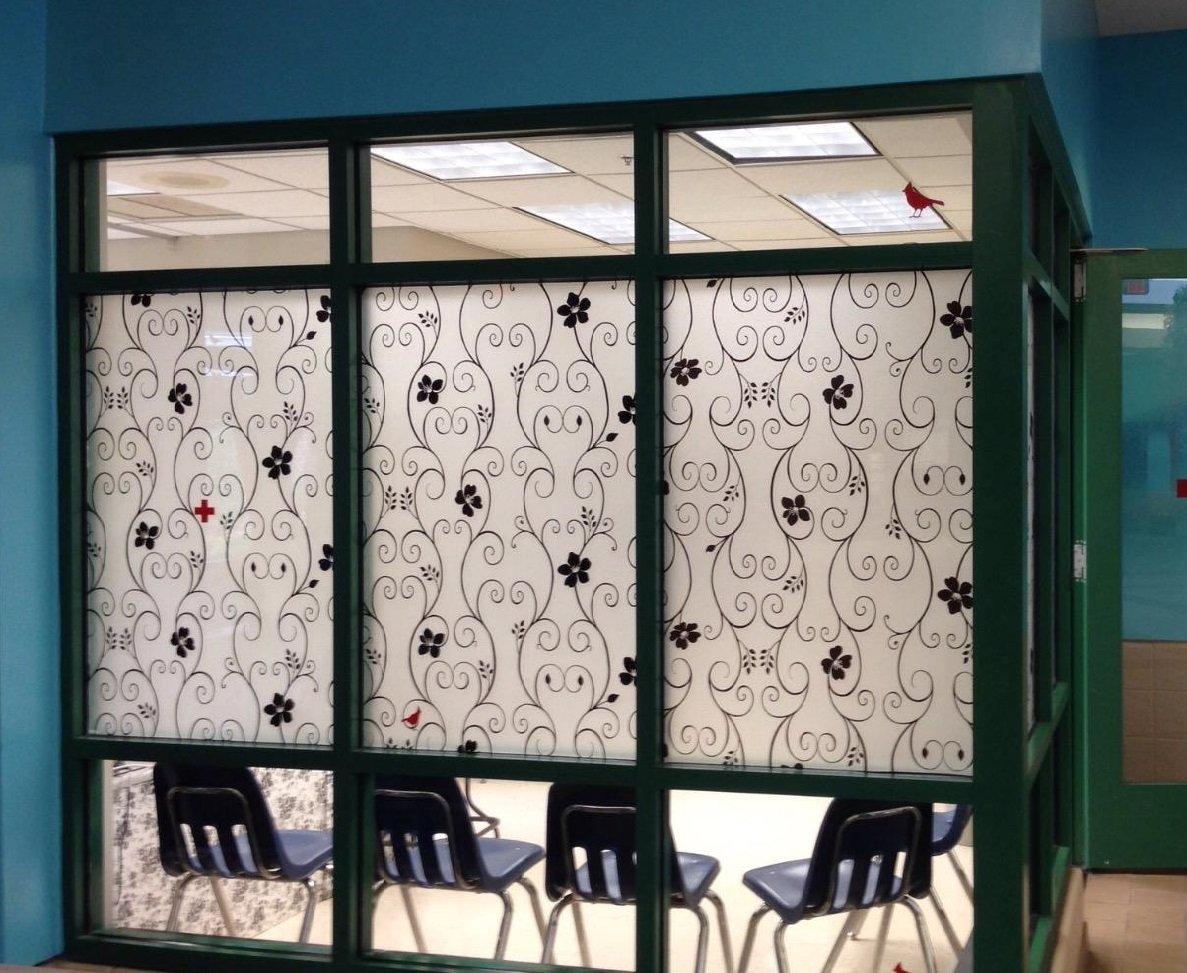 Amazon DUOFIRE Dekorfolie Privatsphäre Fensterfolie Deko