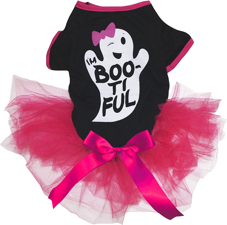 Large, Halloween Petitebelle Halloween Cotton Shirt Tutu Puppy Dog Dress