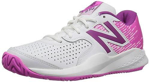 696v3, Zapatillas de Tenis para Mujer, Multicolor (White/Pink), 40 EU New Balance