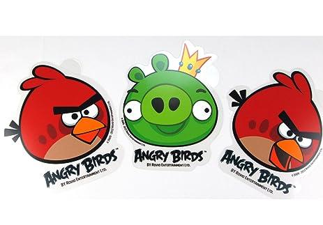 Amazoncom Piece Angry Birds Stickers Two Red Birds And King - Bird window stickers amazon