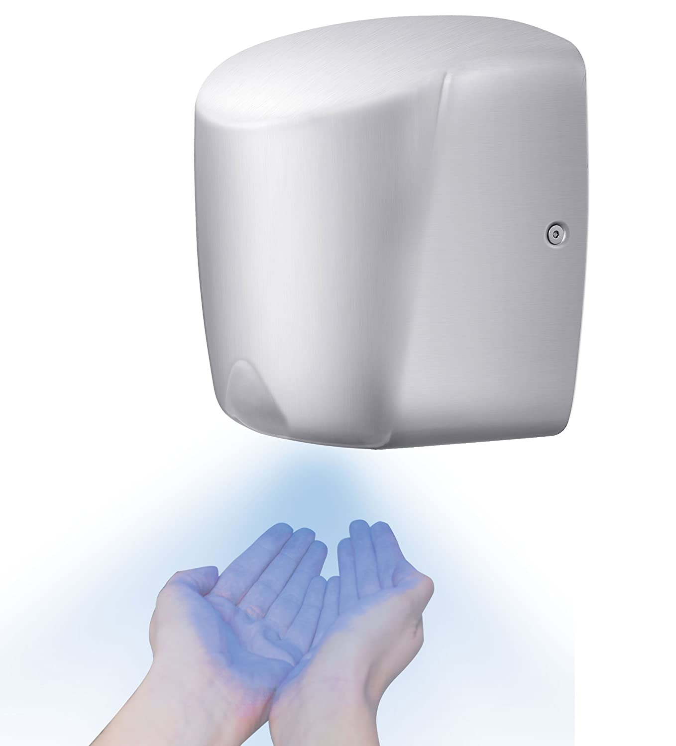 MINI JET HIGH SPEED HAND DRYER ELECTRIC AUTOMATIC COMMERCIAL BRUSHED STAINLESS STEEL