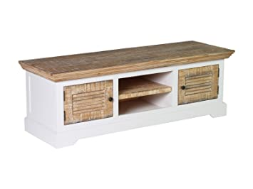 woodkings tv bank manila lowboard pinie rustikal mdf weiss tv