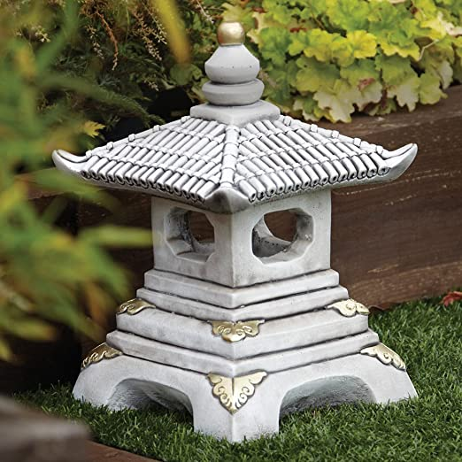 Adornos de jardín chino - One Pagoda farol niveles japonés: Amazon ...