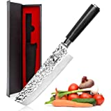 Nakiri Knife - imarku Nakiri Chef Knife 7 Inch High Carbon German Stainless Steel Nakiri Vegetable Knife, Multipurpose…