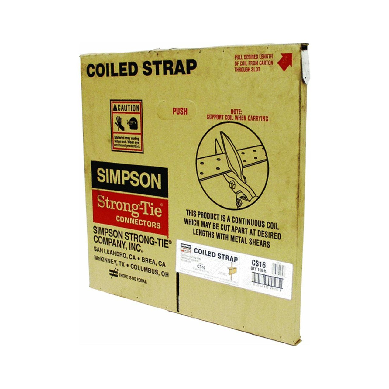 Simpson Strong Tie CS16 Coiled Strap