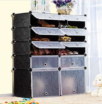 Unicoo   Multi Use DIY Plastic 10 Cube Shoe Rack ,Organizer, Bookcase, Shoes Part 55