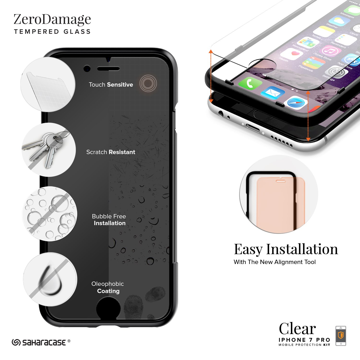 Saharacase iphone 6 6s crystal clear case rose gold edge saharacase - Amazon Com Iphone 8 Plus And 7 Plus Case Saharacase Clear Protective Kit Bundled With Zerodamage Tempered Glass Screen Protector Rugged Slim Fit