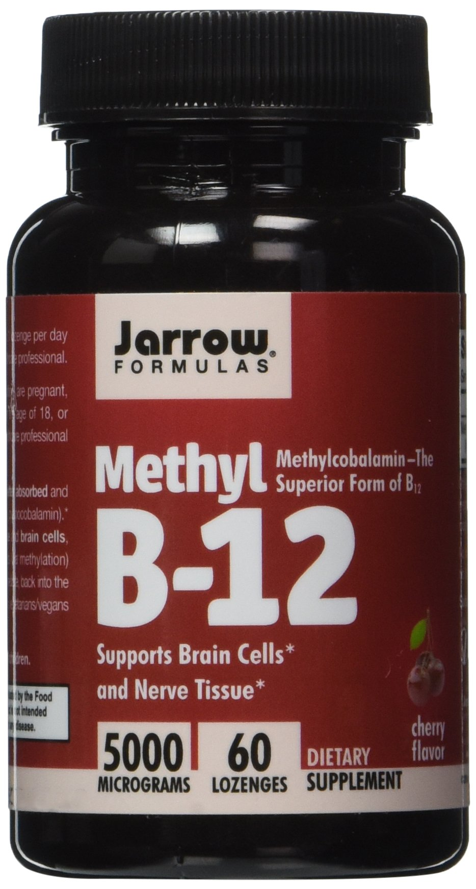 Jarrow Formulas Methylcobalamin (Methyl B12), Supports Brain Cells, 5000 mcg, 60 Lozenges (Pack of 2)