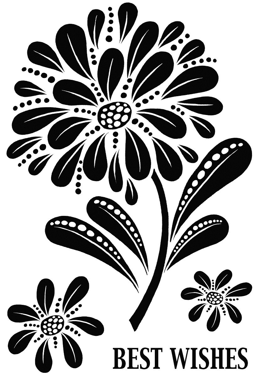 Woodware A6 Clear Cling Stamps - JGS570 Bold Blooms - Helen by WoodWare