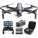 DEERC DE22 GPS Drone with 4K Camera 2-axis Gimbal, EIS Anti-Shake, 5G FPV Live Video Brushless Motor, Auto Return Home, Selfi