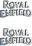 Royal Enfield Logo Tank Sticker (Silver)