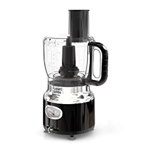 Russell Hobbs FP3100BKR Retro Style Food Processor, 8-Cups (64-oz) Capacity, Black