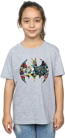 DC Comics Niñas Batman Comic Book Logo Camiseta
