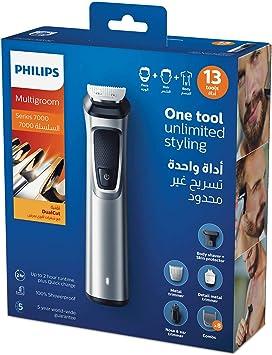 Philips MULTIGROOM Series 7000 MG7715/13 cortadora de pelo y maquinilla Negro, Plata Recargable - Afeitadora (Negro ...