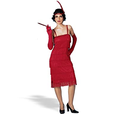 896d73100f35e Amazon.com: Miss Millie Flapper Adult Halloween Costume Size Standard  (O/S): Clothing