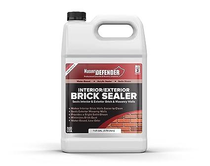 Interior/Exterior Brick Sealer, 1 Gal   Clear, Satin, Acrylic Sealer For