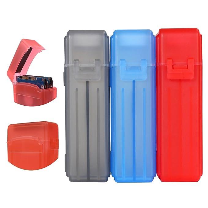 ORICO Festplattentasche Schutztasche Schutzbox Eva Wasserdicht Sto/ßsichere f/ür 2,5 Zoll Externe Festplatten und SSD,Blau