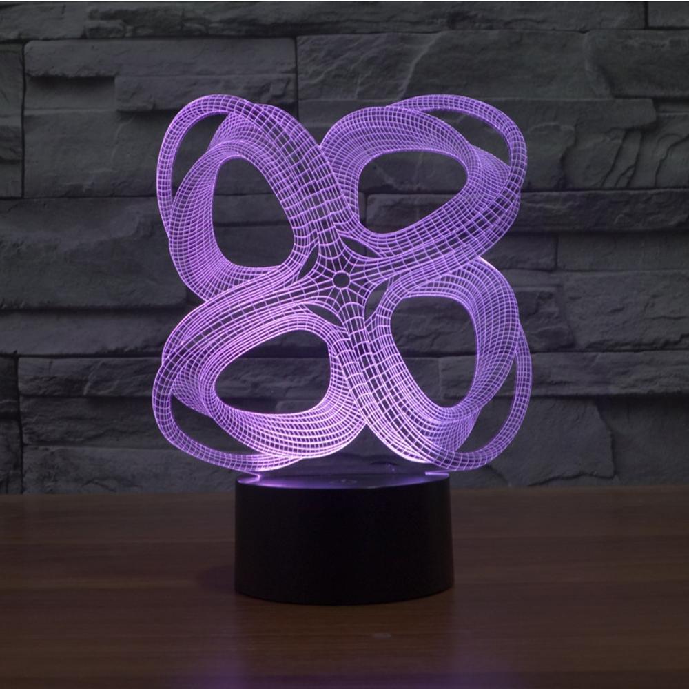 Wmshpeds 4 Círculo abstracto colorido de las luces en 3D ...