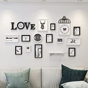 Wuxk Salon De Style Européen Photo Décoration Murale Horloge Murale