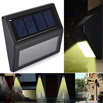 Quaant LED Solar Light, New Arrival 6 LED Solar Power PIR Motion Sensor Wall Light Outdoor Garden Lamp Waterproof (Black)