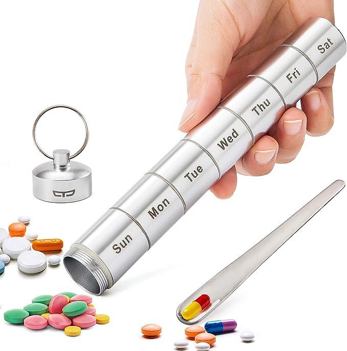 Pill Case Black Damask Keep Calm Take A Pill Black pill case Damask 7 section Pill box 7 day Kellys Magnets 3893 Black