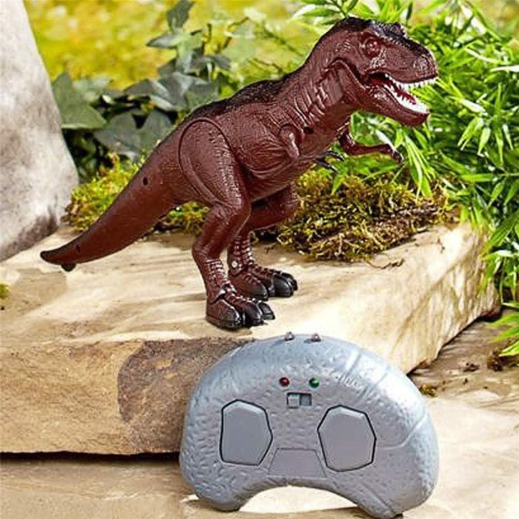 LSQR Electrónica de Control Remoto de Mascotas Robot Dinosaurio, moviéndose Caminando Rugido Dinosaurio Control Remoto luz electrónica Sonido niños Juguete Halloween Regalos,Brown: Amazon.es: Deportes y aire libre