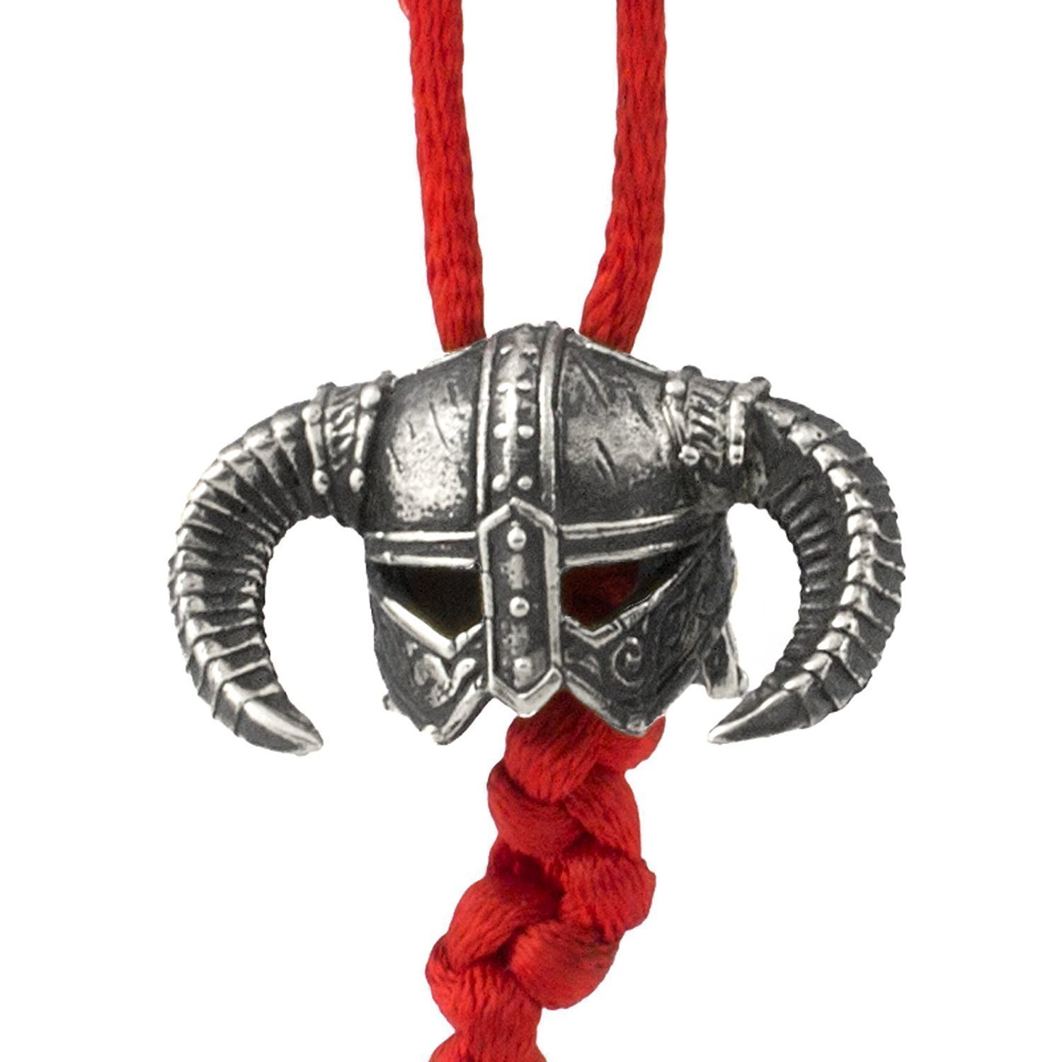Paracord Bead Viking Helmet - Metal DIY Paracord Beads Charms EDC Accessories for Custom Bracelet Knife Lanyard Zipper Pull - Handmade Paracord Charms Supplies Crafts