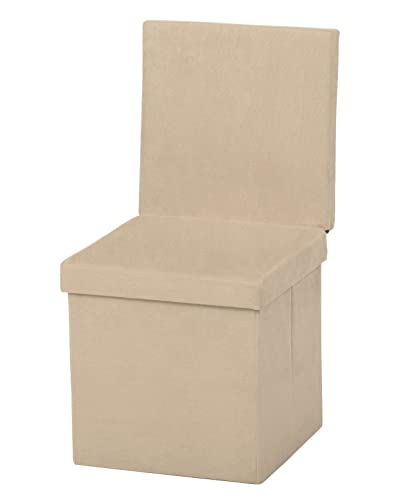 Fresh Home Elements The FHE Group Folding Chair Ottoman, Beige Suede