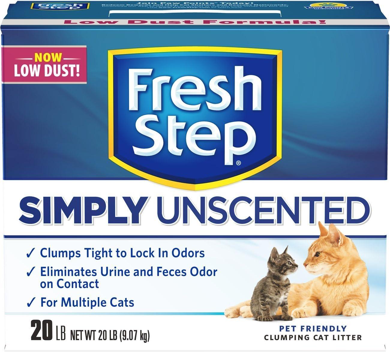 Fresh Step Multi-Cat, Clumping Cat Litter, Unscented