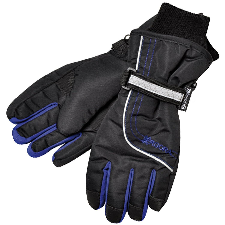 Ergora Kinder Ski Handschuhe Thinsulate™ 40 Gram wasserdicht Fingerhandschuhe 2 Farben 3 Gr. 4 - 6