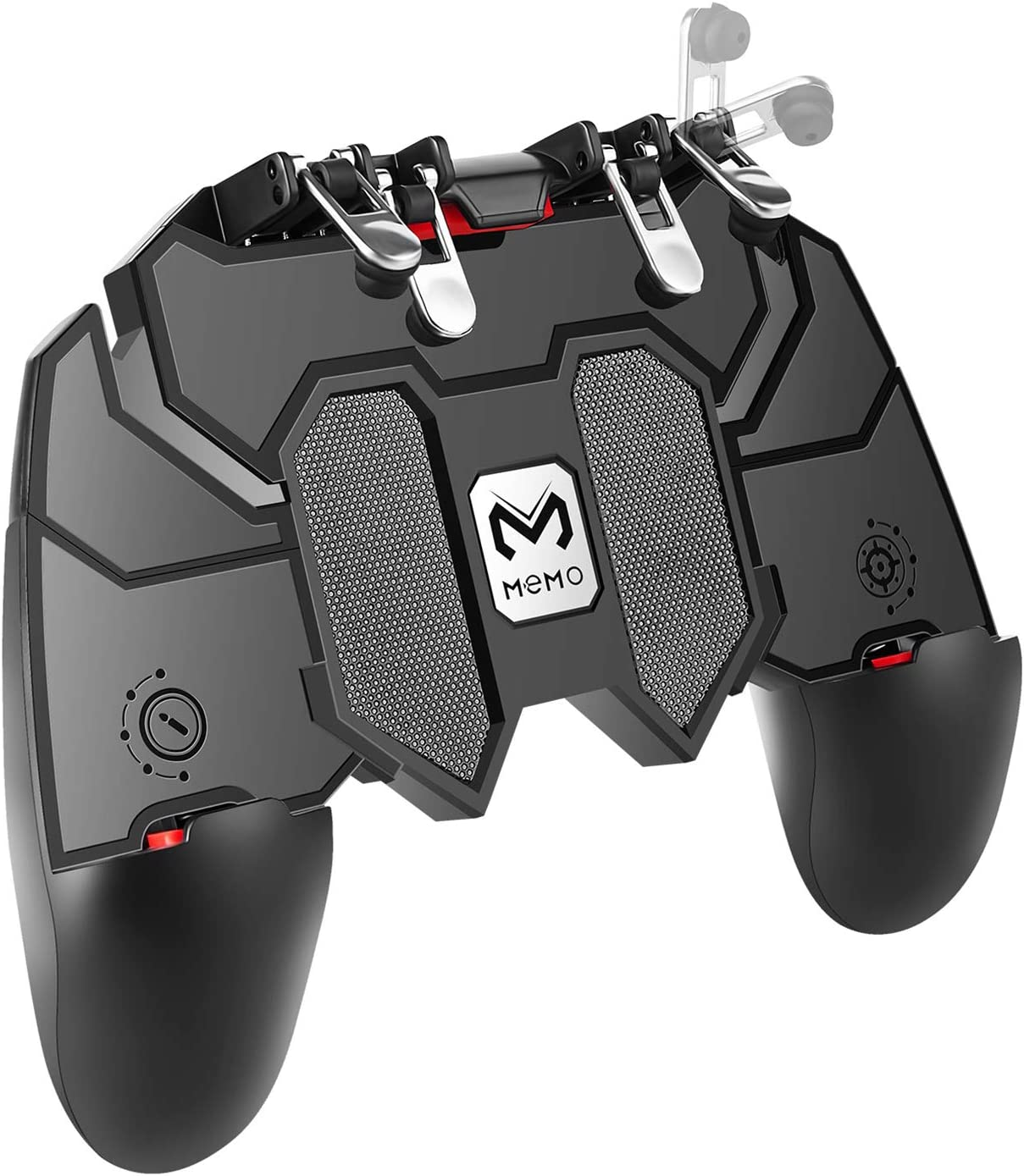 """DELAM Mobile Game Controller with L1R1 L2R2 Triggers, PUBG Mobile Controller 6 Fingers Operation, Joystick Remote Grip Shooting Aim Keys for 4.7-6.5"""" iPhone Android iOS Cellphone Gamepad Accessories"""