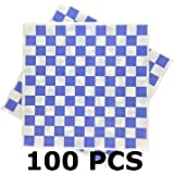 Deli Squares - Wax Paper Sheets (12 x 12) (Checkered Blue)