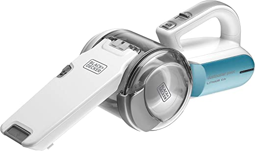 Black+Decker 10.8V 1.5Ah Li-Ion Dustbuster Pivot Cordless Handheld Vacuum for Home & Car, Blue/White - PV1020L-B5, 2 Years Warranty