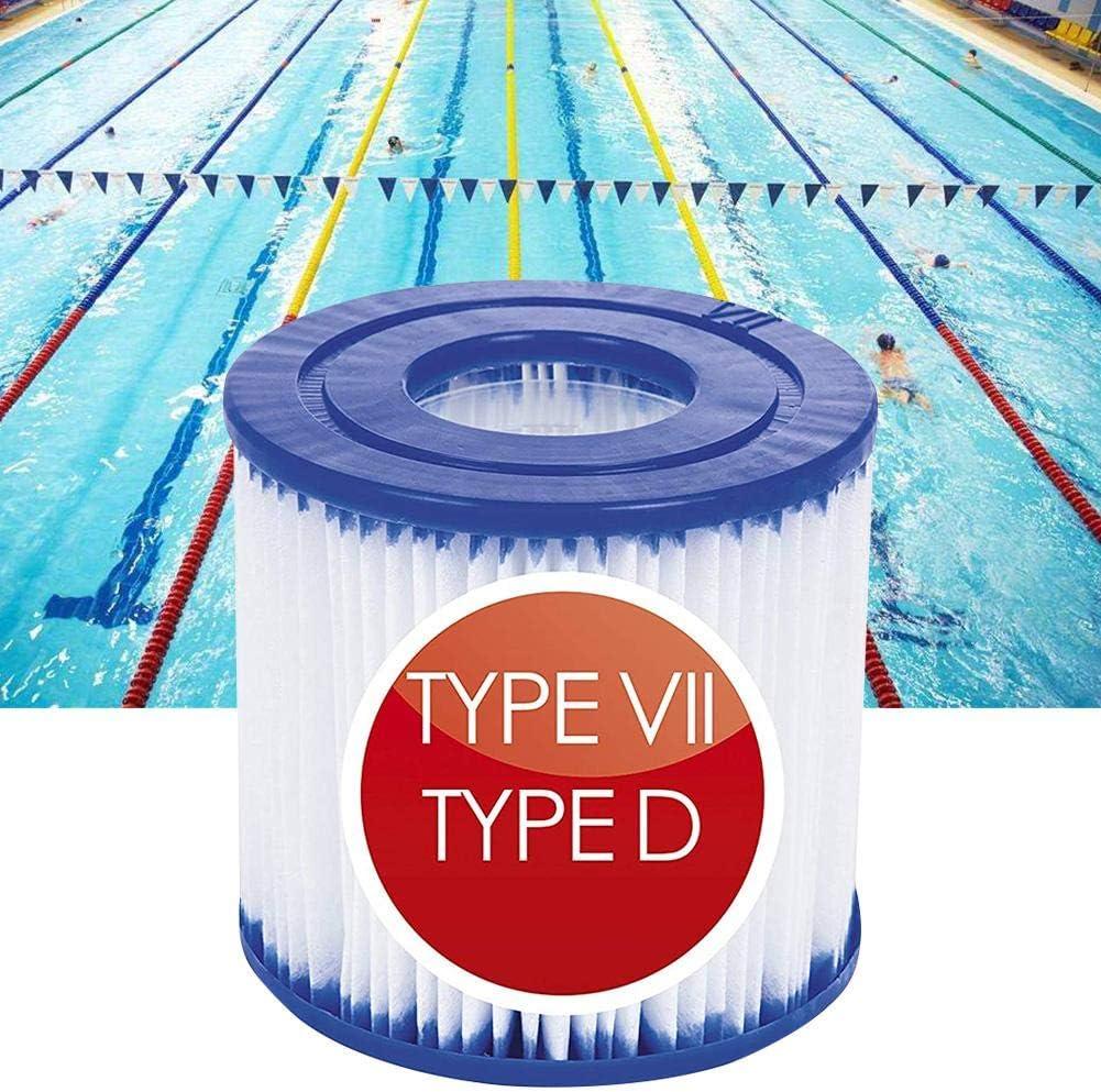 cypressen 2 x Filterkartuschen Filter universell passend f/ür Swimming-Pool-Pumpen Filteranlagenzubeh/ör Filterkartusche Typ D