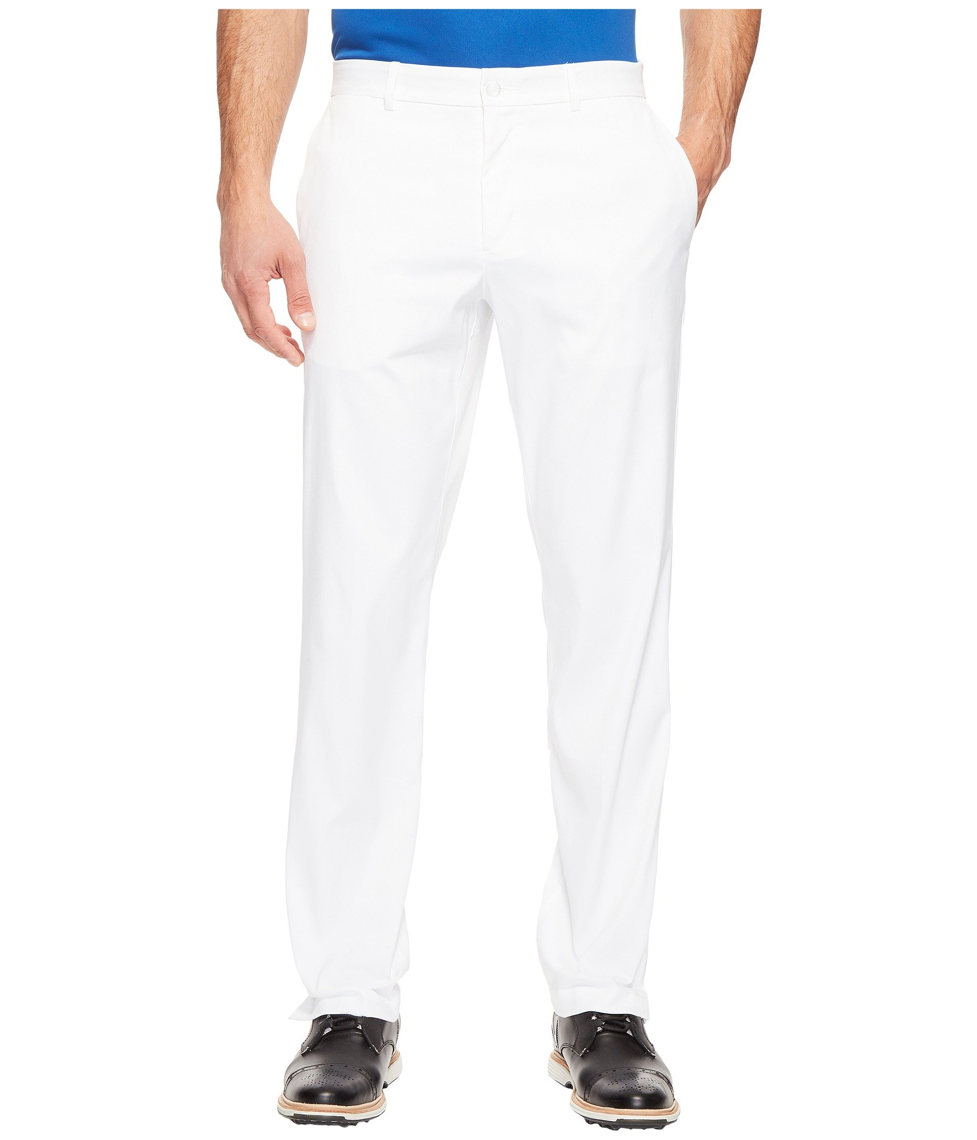 NIKE Men's Flat Front Golf Pants, White/White, Size 28/30