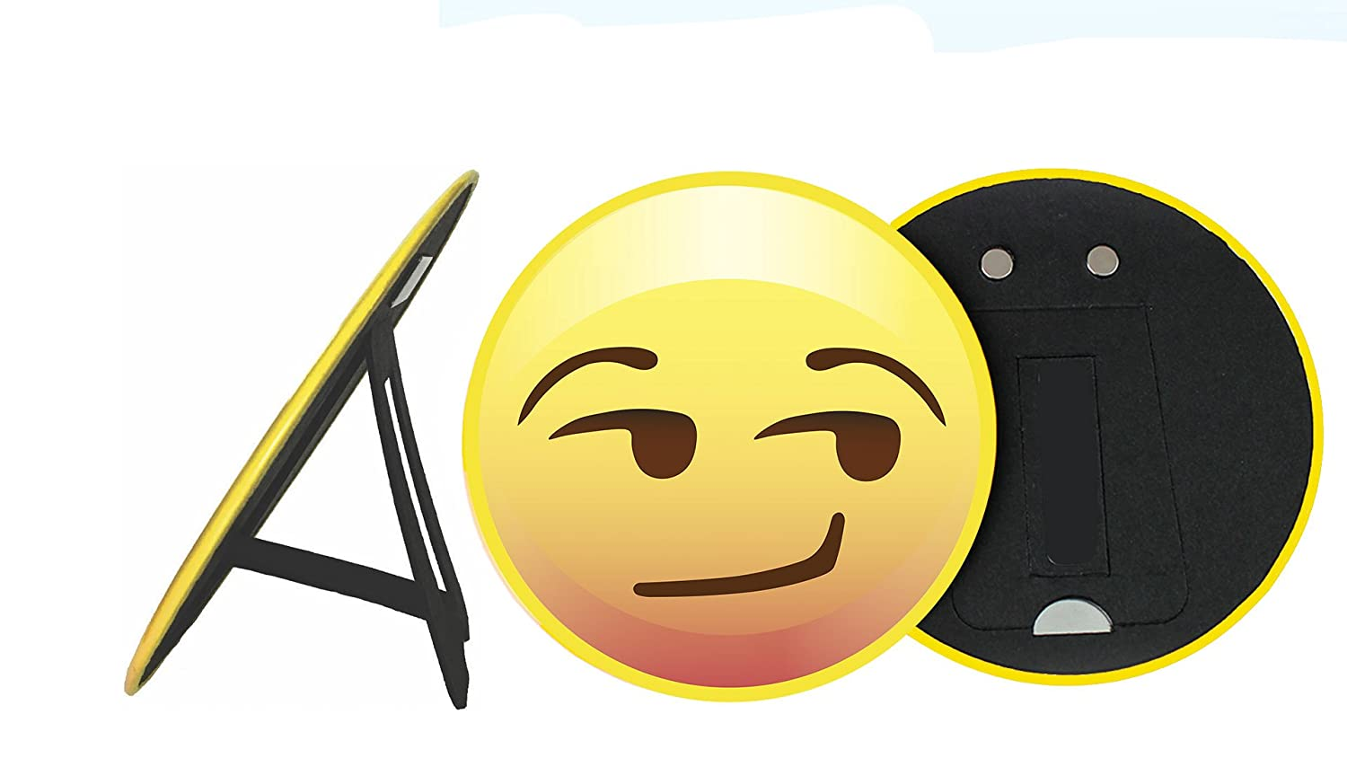 """School White Board Large 6/"""" Smirk Face with Easel Back for Table Top Party D/écor Fridge Emoji Magnet or Place on Refrigerator Kids Bedroom Art Office Gift for Women /& Men Made in USA"""