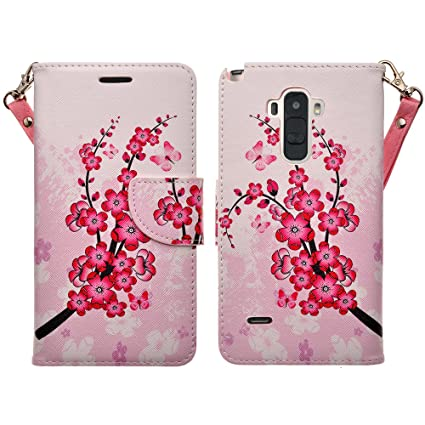 on sale f45a5 a5ef7 LG G Stylo Case (Sprint, MetroPCS, T Mobile, Boost Mobile, Cricket) -  Magnetic Leather Folio Flip Book Wallet Pouch Case Cover With Fold Up  Kickstand ...