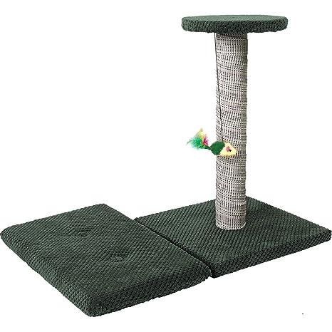 Cat Centre Juego de Poste rascador para Gatos + cojín para Actividades de Gato (3