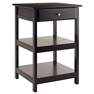Winsome Wood 22121 Delta Printer Stand Black Home Office