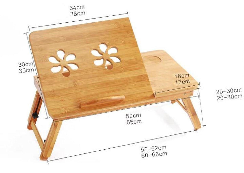 30cm 30 Computer Desk Laptop Bed Lazy Desk Folding Desk with Fan Desk Study Desk Outdoor Work Desk,Beige-50