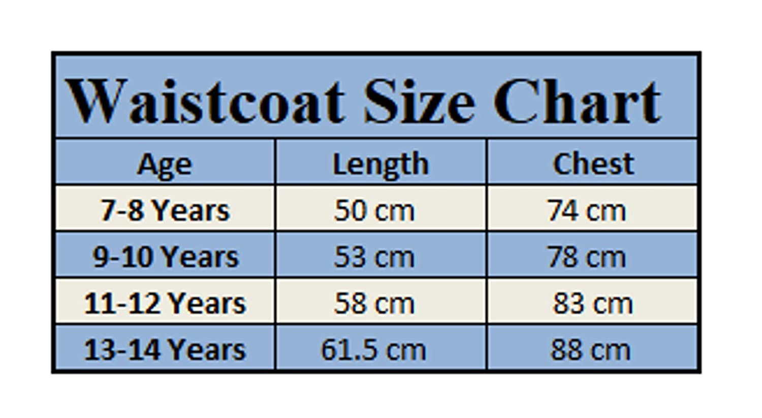 Boys Waiscoat Page Boy Wedding Suit Prom Wear Christening Formal Occasion Vest 7-14 Years